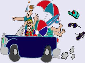 Illustration d'un trajet en voiture