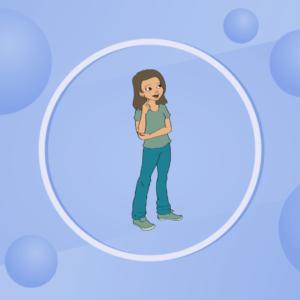 un personnage représenté dans un cercle